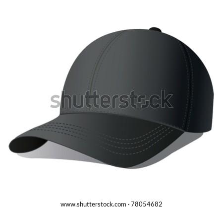 Vector illustration of baseball cap. - stock vector