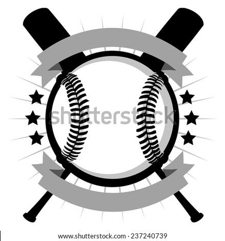 Vector illustration of baseball logo. - stock vector