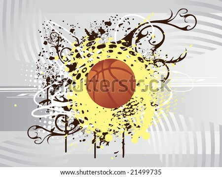 vector illustration of basketball
