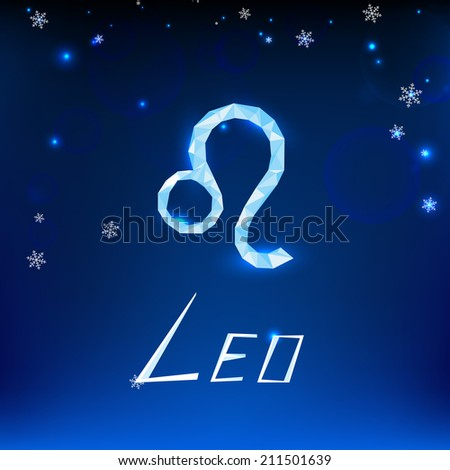 Vector illustration of beautiful christmas zodiac sign