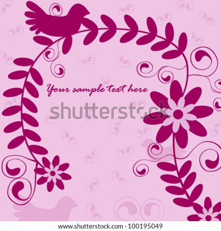 Vector illustration of beautiful claret invitation - stock vector