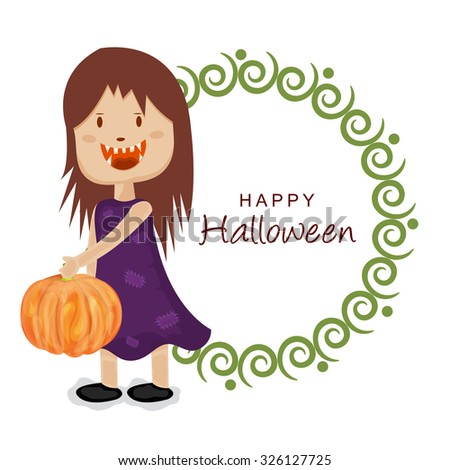 Vector illustration of beautiful greeting card for Happy Halloween.
