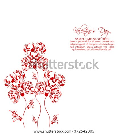 Vector illustration of beautiful heart , background for valentine day.