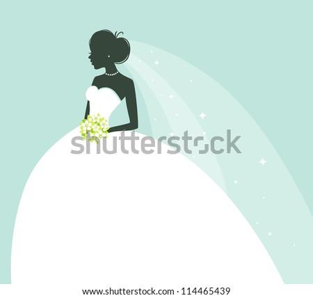 Vector illustration of Beauty bride - stock vector