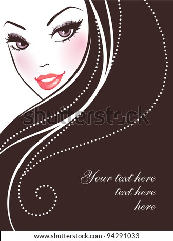 Vector illustration of Beauty woman pic - stock vector