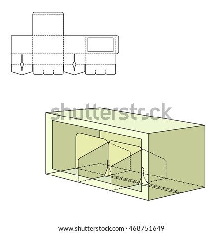 card box template generator - dieline stock images royalty free images vectors