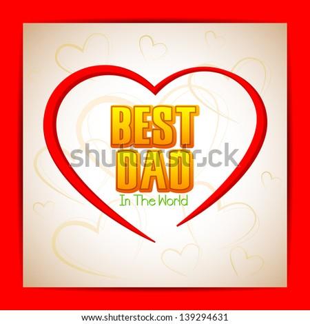vector illustration of Best Dad background - stock vector