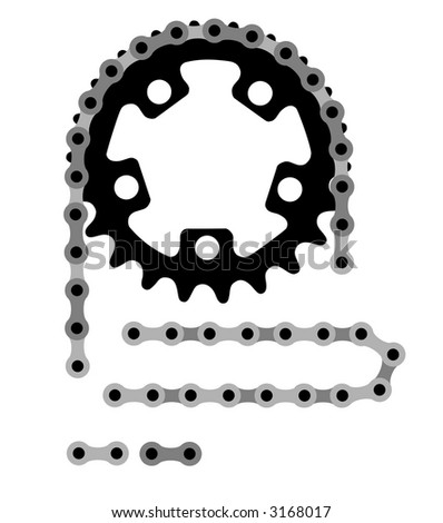 Vector illustration of bicycle chain - stock vector