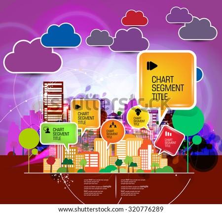 Vector illustration of Big City - stock vector