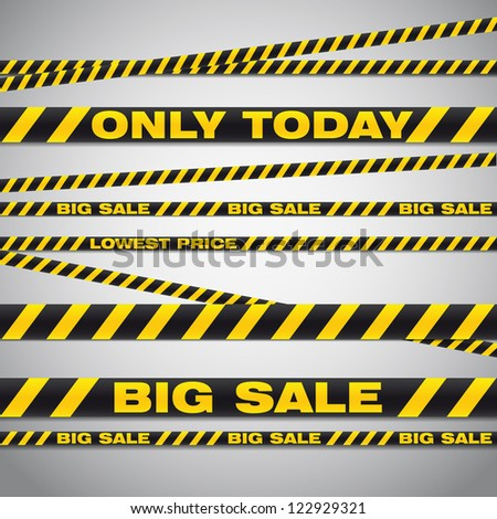 Vector illustration of big sale poster with different element