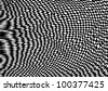 Vector illustration of black and white graphic op art pattern. - stock vector