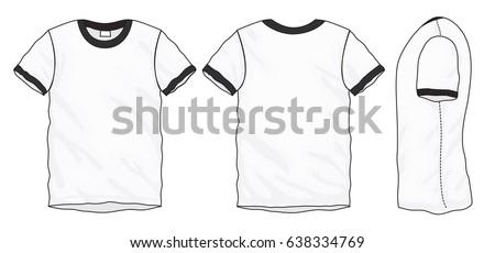 vector illustration mens tshirt front back stock vector 140757085 shutterstock. Black Bedroom Furniture Sets. Home Design Ideas