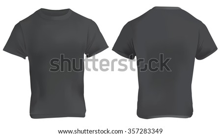 Blank T Shirt Template Black Tshirt Stock Vector