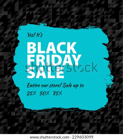 Vector illustration of Black friday big sale - stock vector