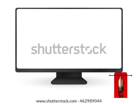 vector illustration blank desktop computer monitor stock vector