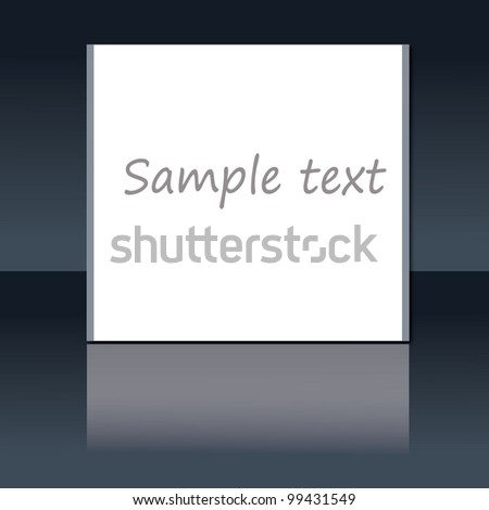 vector illustration of blank sign - stock vector
