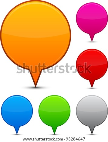 Vector illustration of blank speech bubbles.