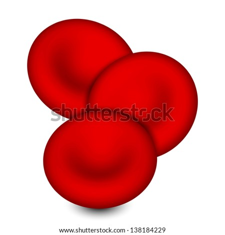 Vector illustration of blood cell - stock vector