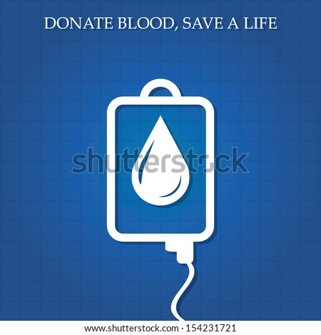 Vector illustration of blood donation concept.vector - stock vector