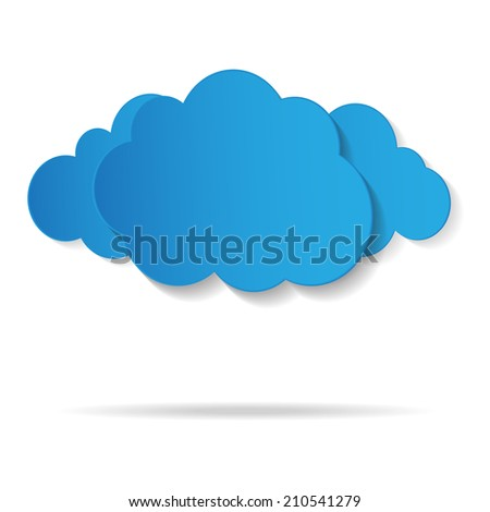 Vector illustration of blue clouds