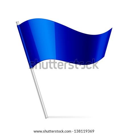 Vector illustration of blue flag - stock vector