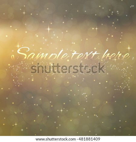 Vector illustration  of Bokeh light  background. Christmas and New Years
