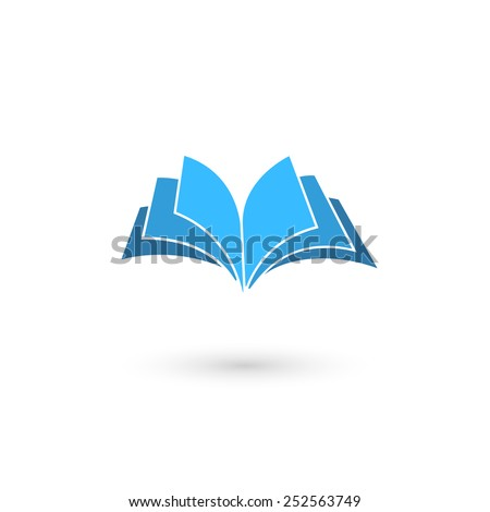 Vector illustration of book icon. Isolated on white background, eps 10. - stock vector
