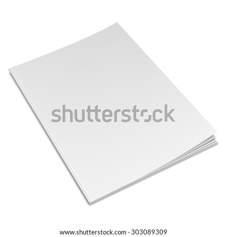 Vector illustration of book with empty blank cover - stock vector
