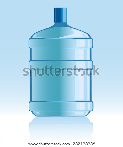 vector illustration of bottle with water - stock vector