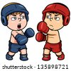 Vector illustration of boxing - stock vector