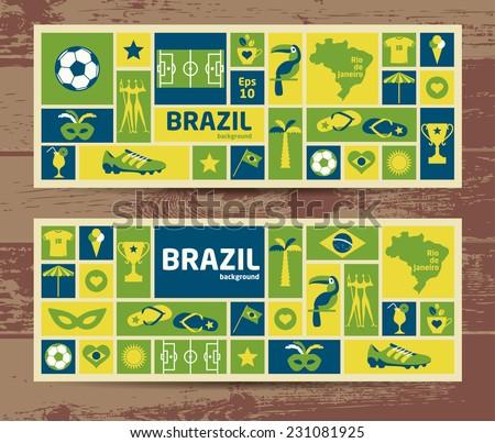 Vector Illustration of Brazil - stock vector
