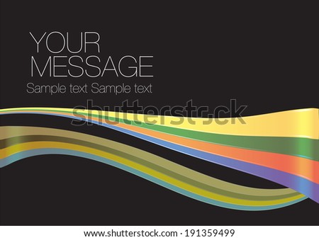 Vector illustration of bright color rainbow across page. Layout template with copy space. - stock vector