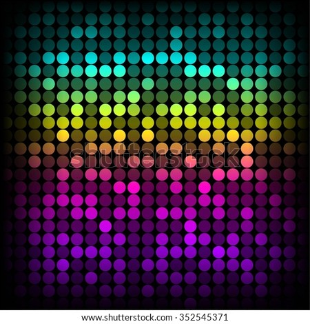 Vector illustration of Bright multicolored abstract background. - stock vector