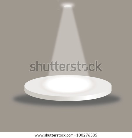 vector illustration of bright stage - stock vector