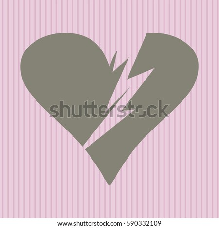 Broken Heart Symbol Stock Vector 379426114 Shutterstock