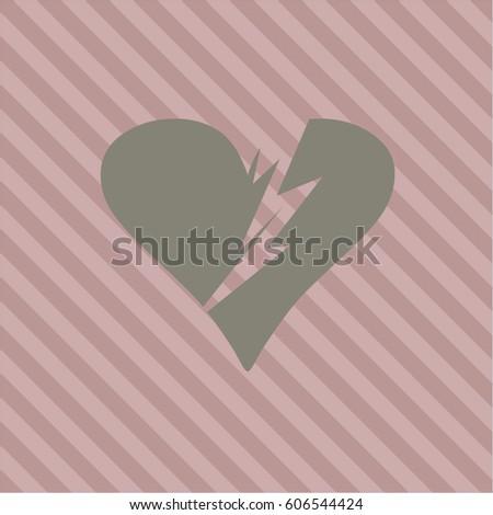 Vector Illustration Broken Heart Vector Symbol Stock Vector Royalty