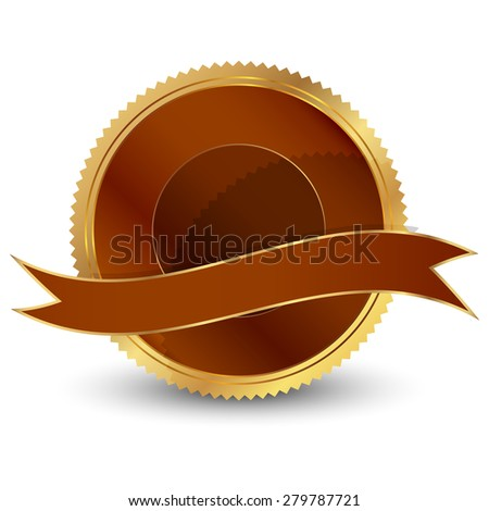 Vector illustration of Brown seal - stock vector