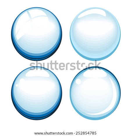 Vector illustration of  bubbles on white.