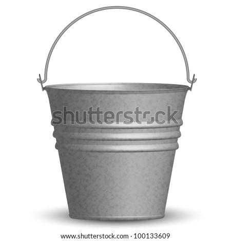 Vector illustration of bucket - stock vector