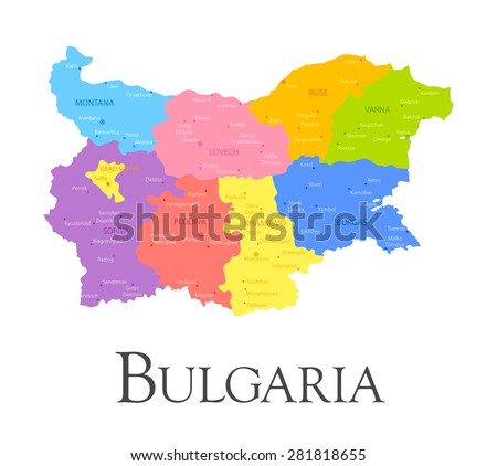 Vector illustration of Bulgaria regional map
