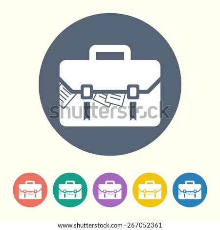 vector illustration of business and finance icon case - stock vector
