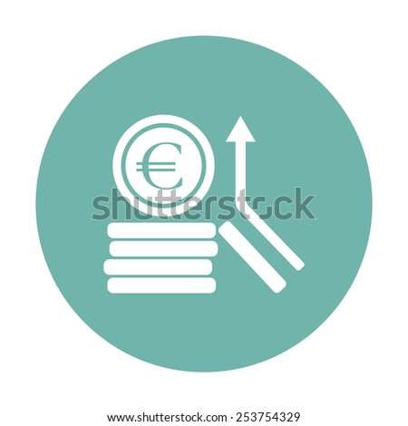 vector illustration of business and finance icon euro coins - stock vector