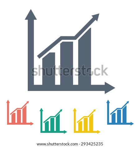 vector illustration of business and finance icon graph