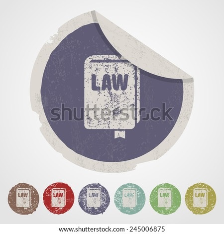 vector illustration of business and finance icon law - stock vector