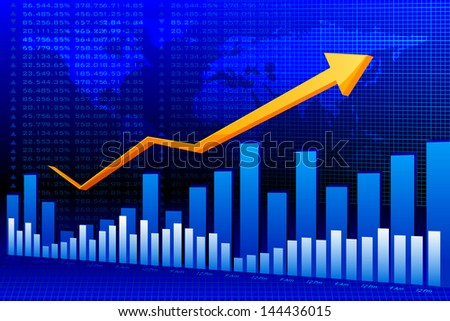 vector illustration of business graph background - stock vector