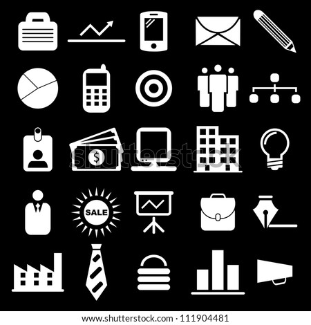 Vector illustration of business icons. - stock vector