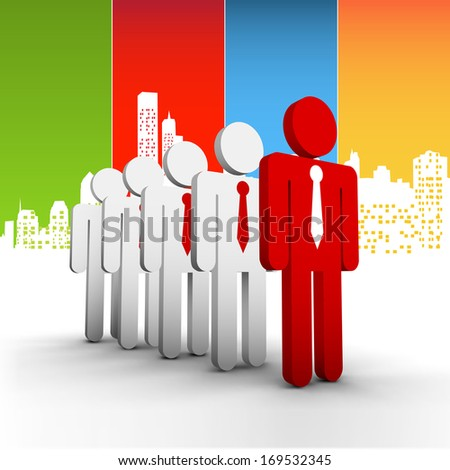 Vector illustration of business people in the city. EPS10 file. Contains blending mode.  - stock vector