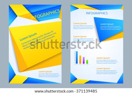 vector illustration of business presentation broucher design - stock vector