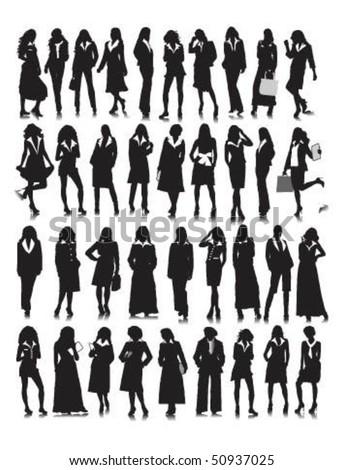 Vector illustration of business women. - stock vector