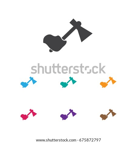 Vector Illustration Camping Symbol On Axe Stock Vector Royalty Free